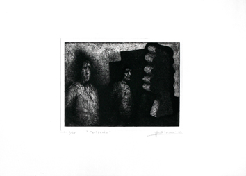Signed etching aquatint de  : Periphery