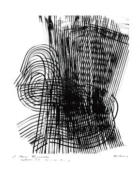 Hartung Hans : Gravure originale signée : L'émerveillé merveilleux