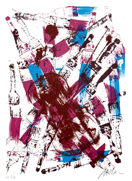 Original signed screenprint de  : Brushed melody III