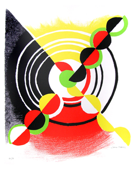 Original signed lithograph de  : Diagonale X