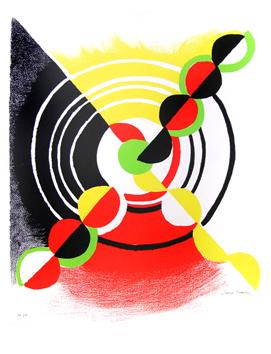 Delaunay Sonia : Litograf�a original firmada : Diagonale X