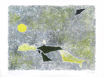Lithographie originale signée de  : Migration matinale