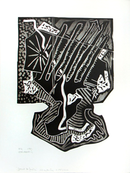 Signed woodcut de  : Nothing keeps its appearance