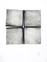 Carborundum original signé de  : 196J13069I (4 carrés à Entas - repère