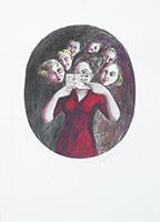 Signed print de  : Carte ovale