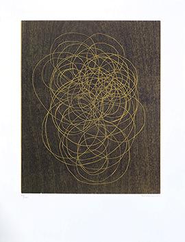 Bois gravé original signé de  : La vie (GR51-1974)
