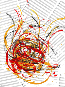 Original signed lithograph de  : Tribute to Beethoven