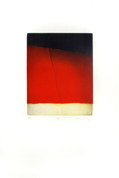 Signed etching aquatint de  : Red