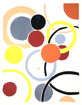 Delaunay Sonia : Print : Compositions of colors