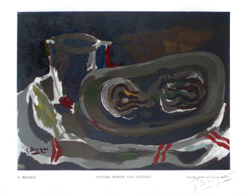 Braque Georges : Livre illustr� : Nature morte aux huitres