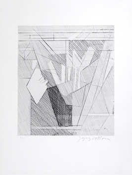 Original etching aquatint de  : Composition, Signe I