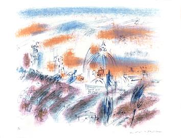 Masson André : Lithographie signée : Florence à l'aube