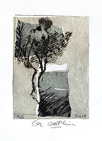 Original signed etching de  : Composition without title XV