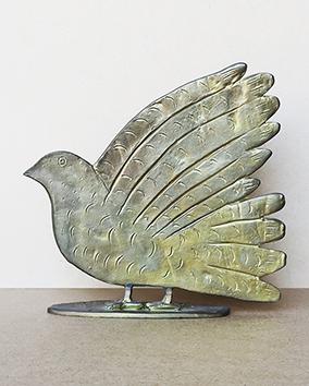 Signierte Skulptur de  : Vogel