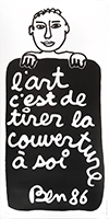 Affiche de  : L'art c'est de tirer la couverture à soi
