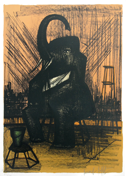 Original signed lithograph de  : The elephant