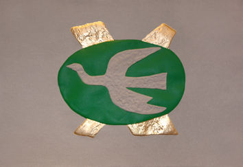 Braque Georges : Gravure d'interpr�tation : Oiseau II