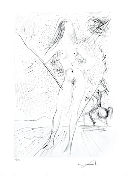 Etching signed de  : Venus of the constellations ...