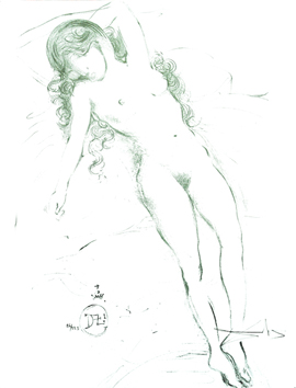 Original signed lithograph de  : Nude