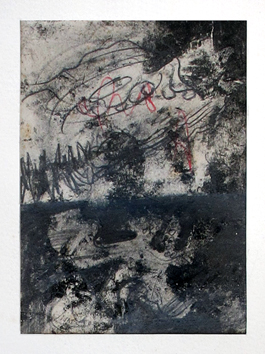 Signed single work de Visat Georges : Composition IV