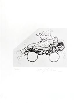 Paladino Mimmo : Gravure originale signée : Sans titre IV