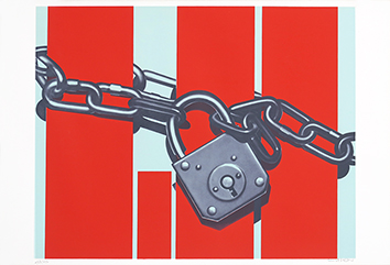 Signed screenprint de  : Padlock