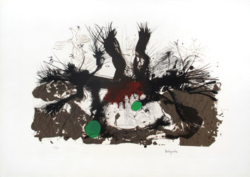 Original signed lithograph de Rebeyrolle Paul : Dead birds