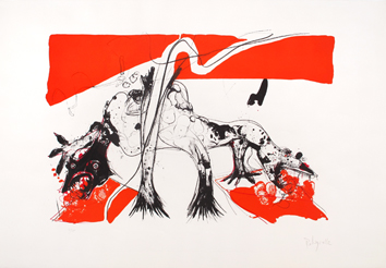 Rebeyrolle Paul : Lithographie originale signée : Coexistence II