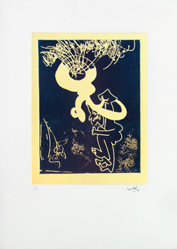 Signed etching aquatint de Matta Roberto : Tromp'homme
