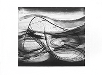 Original signed etching de  : Let it divide the waters