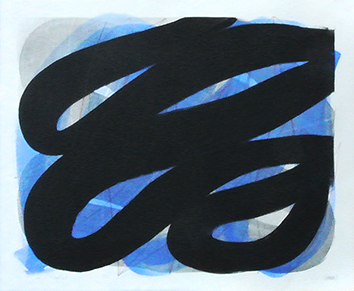 Monotype original signé de  : Black on main 13