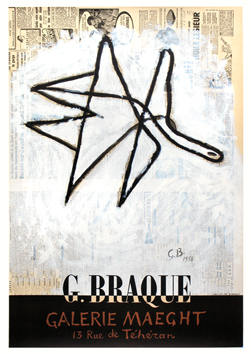Braque Georges : Affiche : Galerie Maeght, Paris, affiche