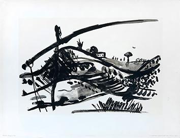 Lithographie de  : Paysage au Palan
