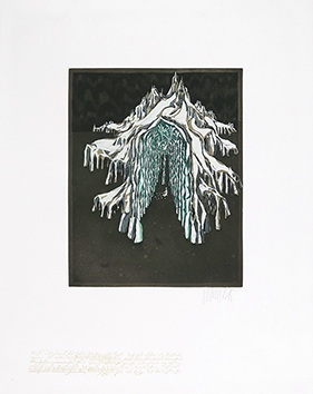 Original signed aquatint de  : Autour de la reine des neiges IX