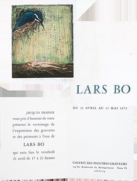 Carton d'invitation exposition de  : Le Martin pècheur - Frapier