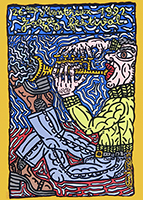 Screenprint poster de Combas Robert : Montreux Jazz Festival 1992