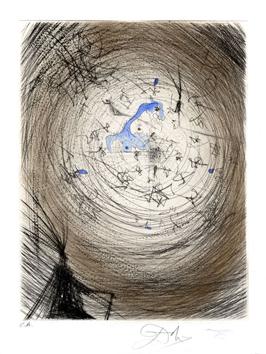 Dali Salvador : Gravure pointe-sèche signée : Sator