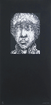 Original signed screenprint de  : Man's portrait