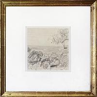 Original drawing de Bonnard Pierre : Paysage du Midi