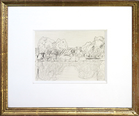 Original drawing de Bonnard Pierre : Landscape
