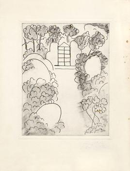 Matisse Henri : Gravure originale : Ithaque
