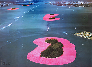 Estampe signée de Christo : Surrounded Islands II