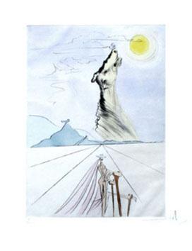 Dali Salvador : Gravure originale signée : Benjamin