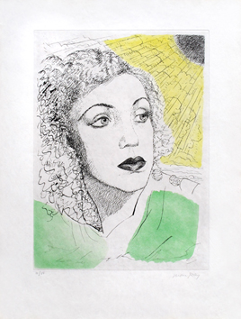 Signed etching aquatint de  : Sheila
