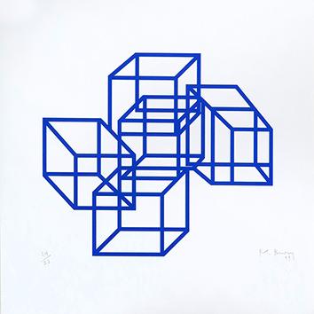 Sérigraphie originale signée de  : Composition IV