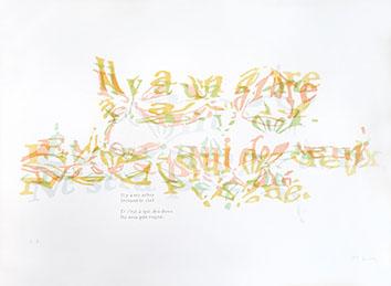 Sérigraphie originale signée de  : Il y a un arbre devant le ciel