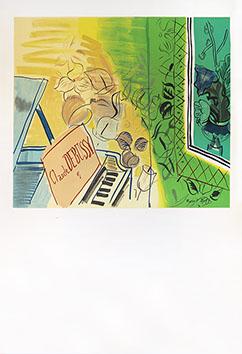 Affiche lithographie de  : Hommage à Debussy