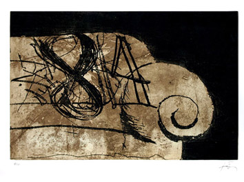 Original signed etching de  : Sofa