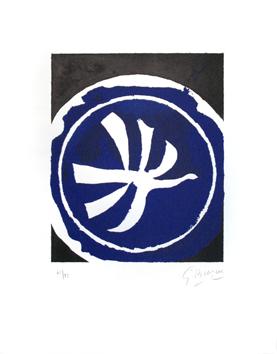 Braque Georges : Lithographie originale sign�e : L'oiseau blanc