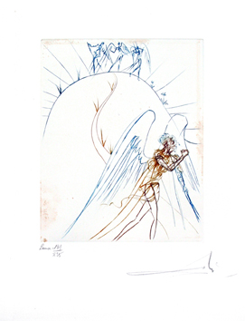 Signed drypoint de  : Satan's flight